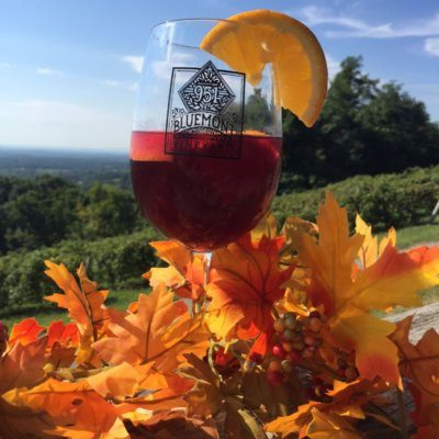 Fall Sangria at Bluemont Vineyard